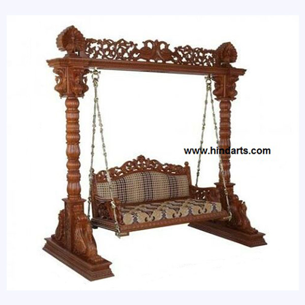 Indian Swing, Wooden Carved Swing, Jhula (Code 212)