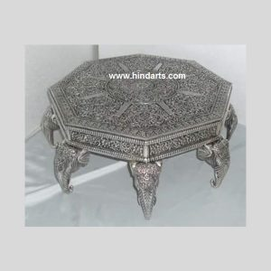 WOODEN CARVED METAL  BAJOT (ITEM CODE 1208 )