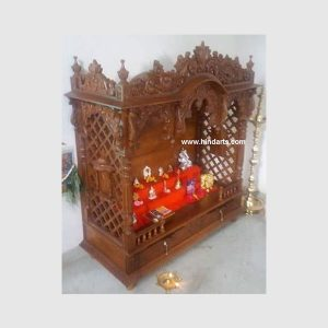 WOODEN CARVED TEMPLE (ITEM CODE 133)