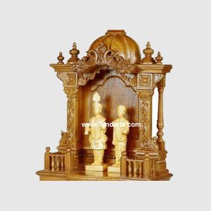WOODEN CARVED TEMPLE (ITEM CODE 138 )